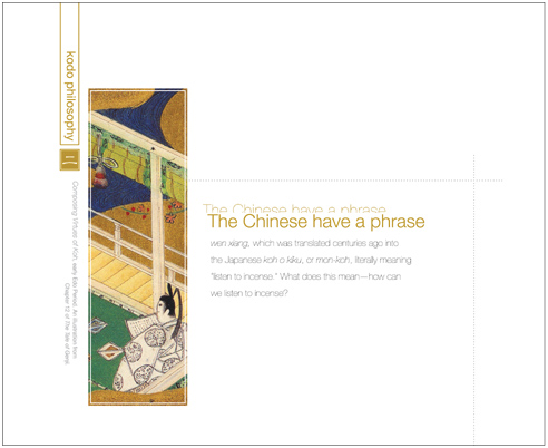 HISTORY OF JAPANESE INCENSE | book design | chapter opening